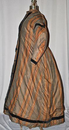 All The Pretty Dresses: 1860's Plaid Wrapper Dress