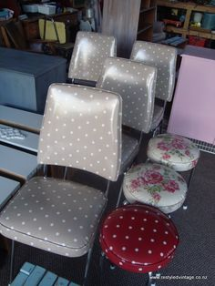 my favorite oilcloth upholstery