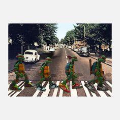 TMNT Abbey Road 9.5x7.5