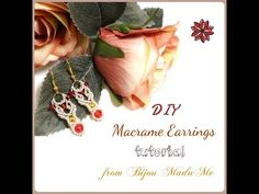 Macrame earrings tutorial. DIY macrame jewelry & crafts. How to make easy ethno macrame earrings. - YouTube