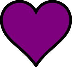 Purple Heart 2 Clip Art at Clkercom vector clip art Clipart - Free Clipart Purple Love, All Things Purple, Shades Of Purple, Purple Hearts, Heart Clip Art, Heart Art, Dont Break My Heart, Fire Heart, Cute Pins