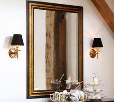 Gold Gilt & Black Mirror | Pottery Barn