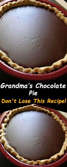 Grandma's Chocolate Pie Make sure you only add the ingredients on the ingredient list You'll Need : cup Old Fashioned Chocolate Pie, Grandma's Chocolate Pie, Chocolate Meringue Pie, Chocolate Pie Recipes, Best Homemade Chocolate Pie Recipe, Chocolate Pie Recipe Using Cocoa, Dessert Chocolate, Fun Desserts, Delicious Desserts