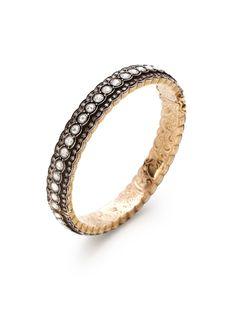 Two-Tone & Diamond Scalloped Bangle Bracelet by Amrapali at Gilt