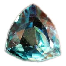 Grandidierite: 4th rarest gem Grandidierite is a bluish mineral that transmits blue, green and white light. Half a carat costs about fifty thousand dollars.
