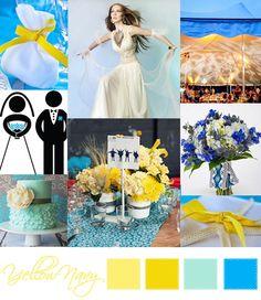 Wedding Moodboard | Yellow Navy