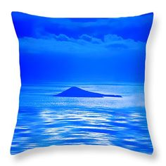 """Island of Yesterday wide crop 14"""" x 14"""" Throw Pillow by Christi Kraft, $37.  Multiple sizes available."""