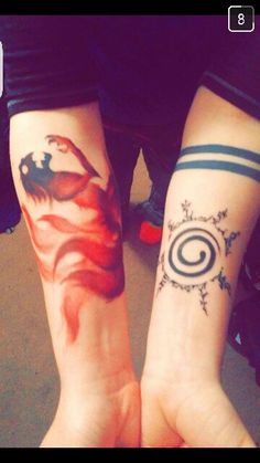 Naruto 9 tailed fox 8 trigrams seal tattoo