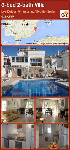 3-bed 2-bath Villa in Los Dolses, Villamartin, Alicante, Spain ►€299,995 #PropertyForSaleInSpain