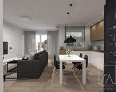 Aranżacje wnętrz - Kuchnia: Mieszkanie // Wronki - Duża otwarta kuchnia w kształcie litery l, styl nowoczesny - Sztyblewicz-Architekci. Przeglądaj, dodawaj i zapisuj najlepsze zdjęcia, pomysły i inspiracje designerskie. W bazie mamy już prawie milion fotografii!