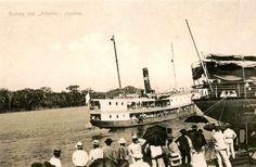 """La llegada del """"Adolfo"""" propiedad del comerciante gomero Adolfo Morey, una suerte de Onassis de la Amazonía"""