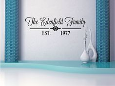 Custom Family Name Vinyl Lettering Family Vinyl Wall Art Decal - Personalized vinyl wall art decals