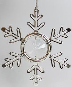 Schneeflocke Christbaumschmuck silberfarben MADE WITH SPECTRA CRYSTAL - premium-kristall