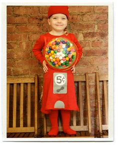 Fall is officially here and Halloween is just around the corner. And lots of costumes. I love seeing the little kids dressed in their costumes parading down the street on Halloween night. They look so adorable waddling up Costume Halloween Maison, Gumball Machine Halloween Costume, Gumball Costume, Diy Halloween Costumes For Kids, Halloween Crafts, Halloween Clothes, Pregnant Halloween, Bonbon Halloween, Fete Halloween