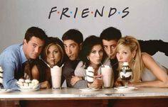 """A """"sweet"""" poster ofthe cast of Friends! Shake it upwithMatthew Perry, Jennifer Aniston, David Schwimmer, Courtney Cox, Lisa Kudrow, and Matt LeBlanc. Ships f"""