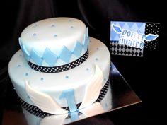 2 Tier 1st Birthday Cake w/matching invitation