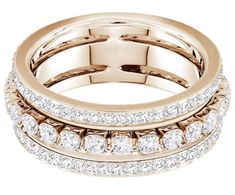 1abb5c997 Further Ring, White, Rose gold plating - Jewelry - Swarovski Online Shop