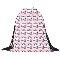 AHHHH We seriously LOST OUR MINDS when we saw this amazing drawstring bag and we had to get it in your hot little hands ASAP. Check out this and other pink, magical and trending things that sparkle at PrettyPinkThings.com.