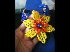 Beading Projects, Beading Tutorials, Peyote Patterns, Beading Patterns, Beaded Sandals, Flower Ball, Beaded Flowers, Bead Art, Bead Weaving