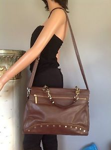Bag Purse Crossbody Olivia Joy EX Large Designer Fahion Stylish Brown Gold | eBay