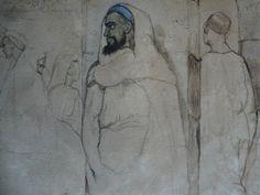 CHASSERIAU Théodore,1846 - Arabe barbu et autres Figures - drawing - Détail 01