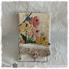 POUCH | Calico & Peach by CREATEmeDESIGNS on Etsy Fabric Scraps, Little Gifts, Doilies, Gifts For Women, Craft Supplies, Pouch, Embroidery, Cards, Handmade