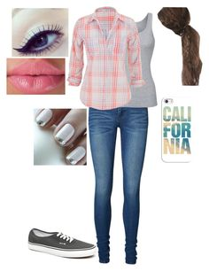 """Plaid Tag"" by loney5400 ❤ liked on Polyvore featuring Vans, Vero Moda, Splendid, maurices and Casetify"
