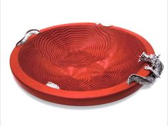 a red lacquer bowl from Lotus Arts de Vivre