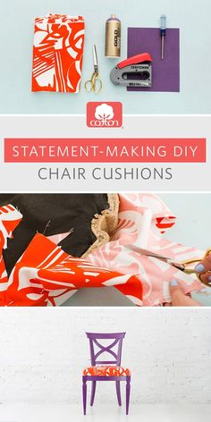 Cotton and @Brit + Co partnered up to help turn your thrift store chair into a bold piece of furniture that complements your unique style. Click through for step-by-step instructions.