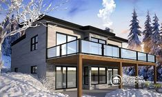 Discover the plan 7900 - Gleason from the Drummond House Plans house collection. Modern Cottage house plan with finished walkout basement, 4 beds, 3 baths, large rear terrace, 2 fireplaces. Total living area of 3170 sqft. Cottage House Plans, Cottage Homes, Plan Chalet, Basement House Plans, Walkout Basement, Basement Laundry, Basement Flooring, Drummond House Plans, Modern Cottage