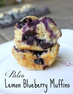 Paleo Lemon Blueberry Muffins Recipe