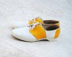 Yellow Saddle Shoes