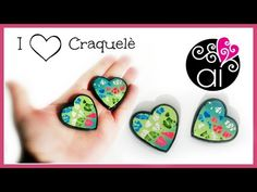 ▶ I love Craquelè | Polymer Clay Tutorial | DIY Cracke Effect | Valentine's day Ideas - YouTube