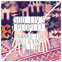 on our FACEBOOK PAGE we are more than 500 LIV'S PEOPLE! many thanks! find us also there!