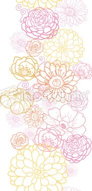 Wedding Bouquet Floral Seamless Vertical Ornament Royalty Free Stock Vector Art Illustration