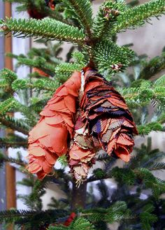 fabric pine cones