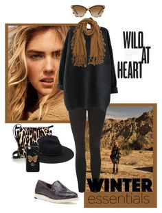 """""""Wild At Heart!"""" by lheijl ❤ liked on Polyvore featuring Jimmy Choo, Anja, Topshop, Johnston & Murphy, Gucci and Versace"""