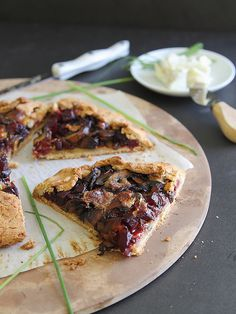 Mushroom beet and blue cheese galette by Runningtothekitchen, via Flickr