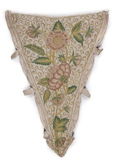 Buy online, view images and see past prices for An embroidered linen stomacher, circa 1710, worked in pink and green silks. Invaluable is the world's largest marketplace for art, antiques, and collectibles.