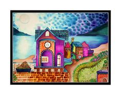 Purple Cottage By The Sea - I live there in my head, :)