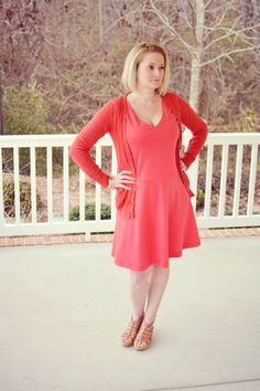 Shades of Me: Coral Lady Skater Dress - Pattern by Kitschy Coo