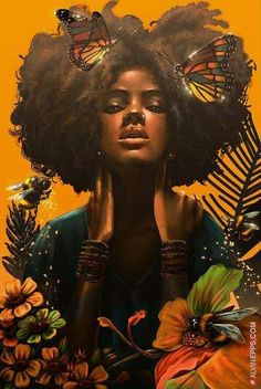 Hair art illustration inspiration new Ideas Black Love Art, Black Girl Art, African American Art, African Art, African Culture, Tribal African, African Animals, African Safari, Natural Hair Art