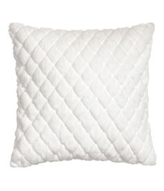Quilted Faux Fur Cushion Cover | White | Home | H&M US