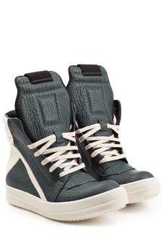 #Rick #Owens #High, #Top, #Sneakers aus #Leder #, #Multicolor für #Damen - Leder…