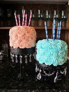Flower Cakes.
