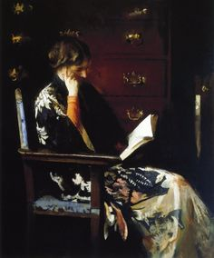 Mary Reading (1915-16). Edmund Charles Tarbell (American, 1862–1938). Oil on canvas.
