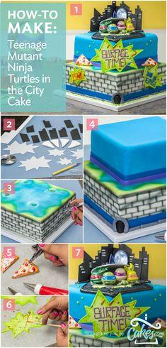 Teenage Mutant Ninja Turtles Cake - click for the full tutorial