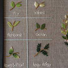 #stitch #embroidery #도안샘플작업#프랑스자수#나뭇잎자수