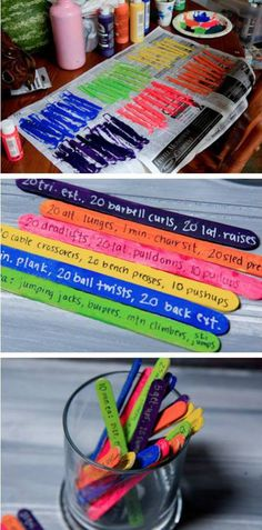 Use this cool idea to spice up your workouts! Fun workout idea! The Popsicle Stick Workout! Get more fun workout ideas from www.GetFitBeSexy.com #Fitness #Workout #FunIdeas