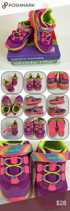 Stride Rite Made to Play Washable shoes Stride Rite Made to Play Washable shoes - M2P Myra Pink/Lime - Size 8.5M EUC - worn only a couple of times. Have Velcro strap across top Stride Rite Shoes Sneakers